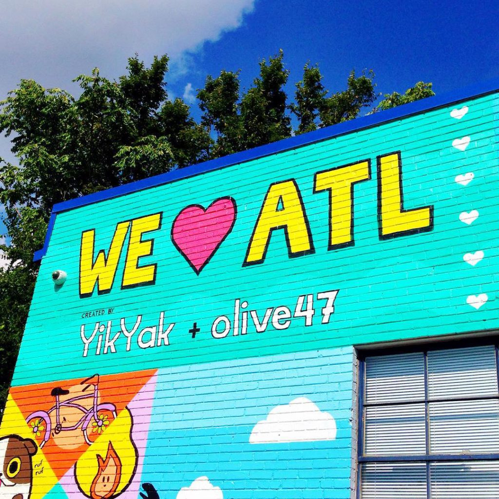 We Love ATL | Olive 47 | Best Wall Murals in Atlanta | ATL Bucket List