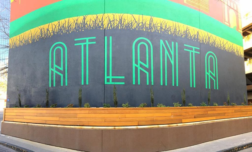 Atlanta Mural at the Glenn Hotel | Best Wall Murals in Atlanta | ATL Bucket List