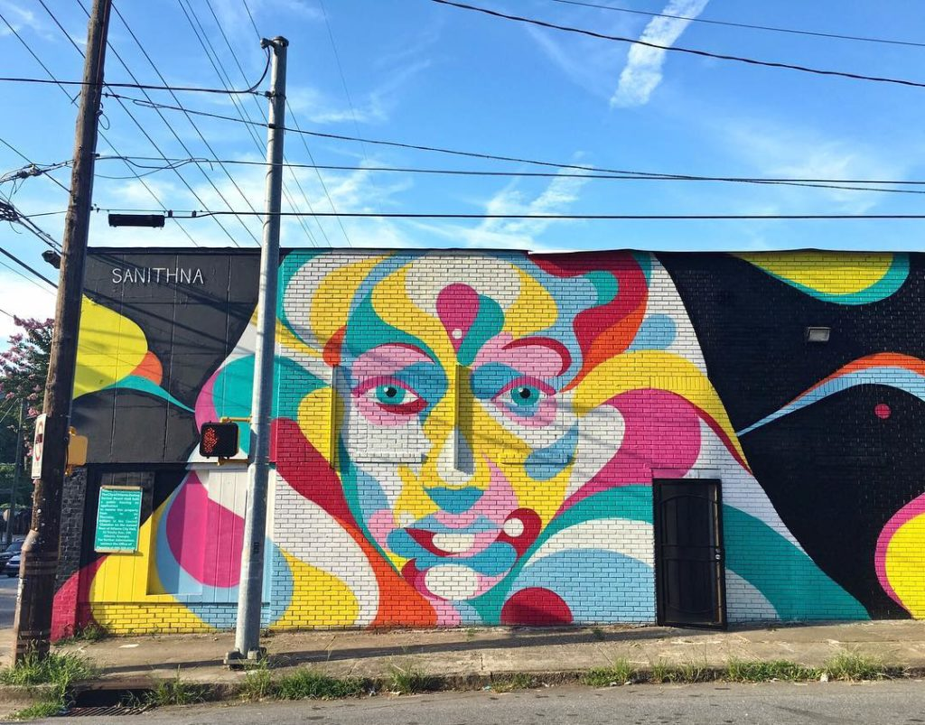 Graffiti wall atlanta - Sanithna Best Wall Murals In Atlanta Atl Bucket List