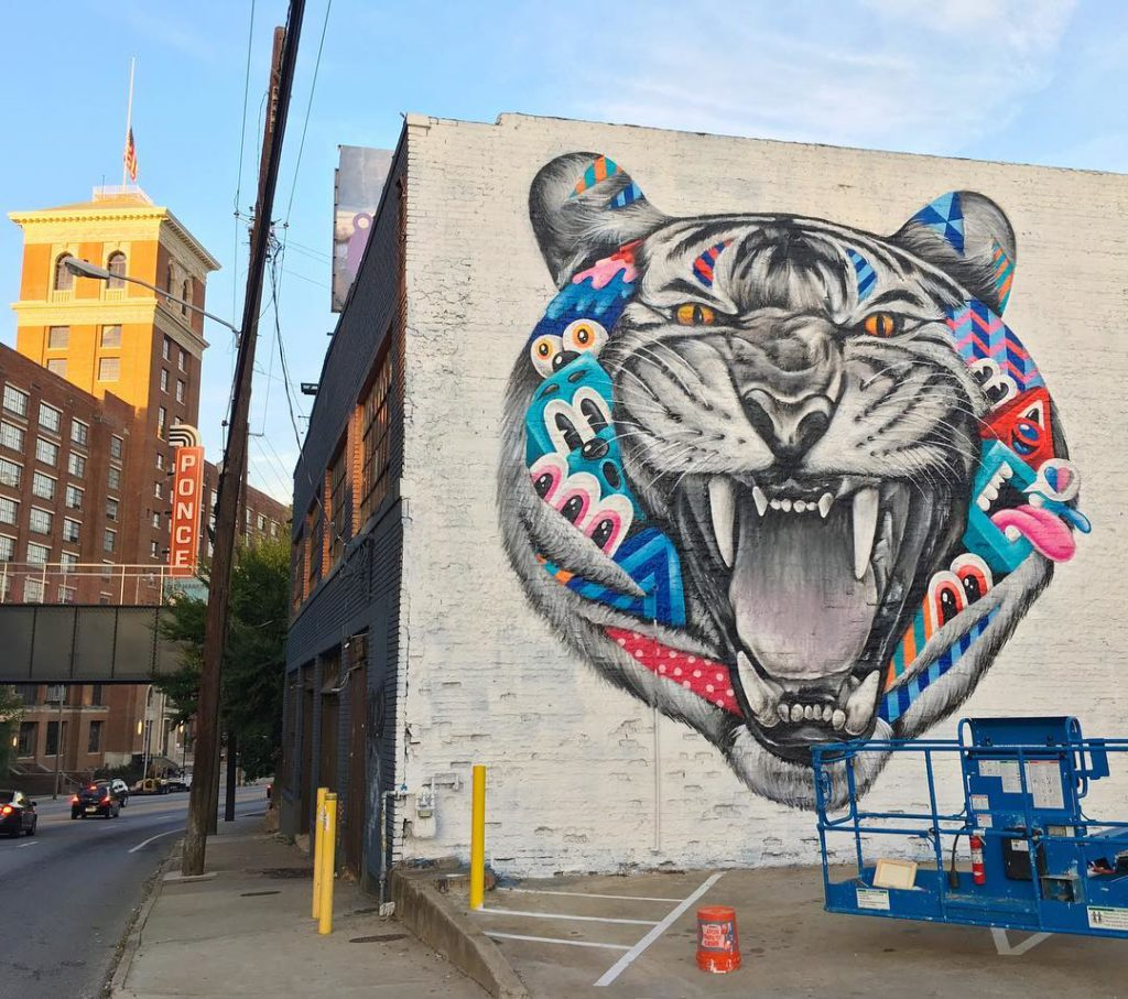 Graffiti wall atlanta - Reincarnation Greg Mike Best Wall Murals In Atlanta Atl Bucket List
