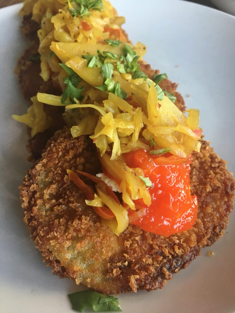 Fried Green Tomato from Smoke Ring   ATL Bucket List